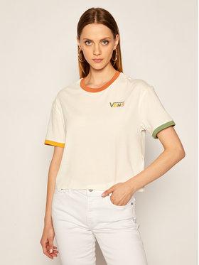 Vans Vans Marškinėliai Karina Boxy Crew VN0A4SBGFS81 Balta Regular Fit