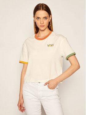 Vans Vans T-Shirt Karina Boxy Crew VN0A4SBGFS81 Biały Regular Fit