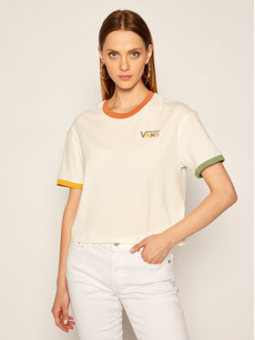 Vans Vans T-Shirt Karina Boxy Crew VN0A4SBGFS81 Bílá Regular Fit
