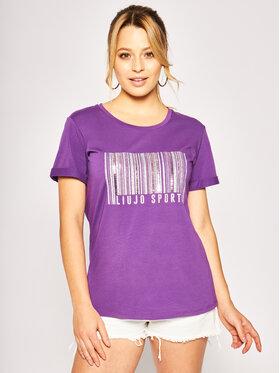 Liu Jo Sport Liu Jo Sport T-Shirt TA0134 J5003 Violett Regular Fit