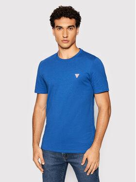 Guess Guess T-Shirt M1RI36 I3Z11 Tmavomodrá Slim Fit