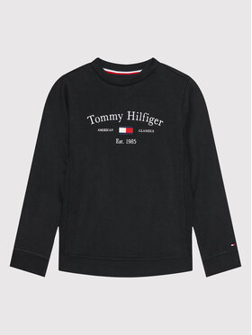 Tommy Hilfiger Tommy Hilfiger Суитшърт Artwork KB0KB06347 M Черен Regular Fit