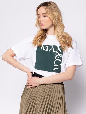 MAX&Co. MAX&Co. Póló Tee 49719620 Fehér Regular Fit