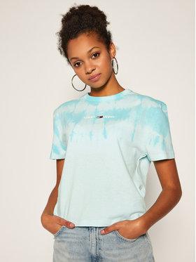 Tommy Jeans Tommy Jeans T-Shirt Summer Tie Dye DW0DW08541 Modrá Regular Fit