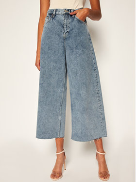Tommy Jeans Tommy Jeans Relaxed Fit džínsy Meg Mr Wide Leg Ankle DW0DW08380 Modrá Relaxed Fit