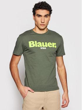 Blauer Blauer T-shirt Usa 21SBLUH02128 004547 Verde Regular Fit