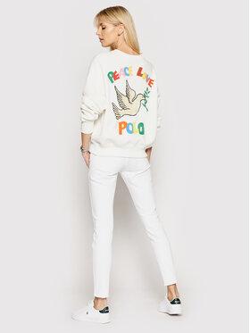 Polo Ralph Lauren Polo Ralph Lauren Mikina Lsl 211839227001 Biela Regular Fit