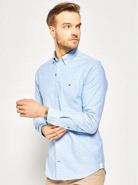 TOMMY HILFIGER TOMMY HILFIGER Ing Core Stretch Slim Oxford Shirt MW0MW03745 Kék Slim Fit