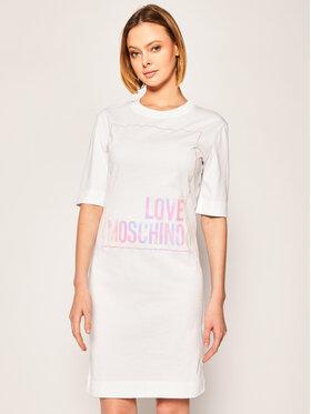 LOVE MOSCHINO LOVE MOSCHINO Haljina za svaki dan W5B4902M 4083 Bijela Regular Fit