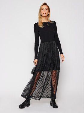 Guess Guess Komplet sukienka letnia i sweter Sadia W0BK63 KA6I0 Czarny Regular Fit
