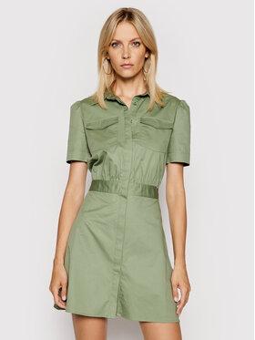 Guess Guess Sukienka koszulowa W1GK0O WDXM0 Zielony Regular Fit