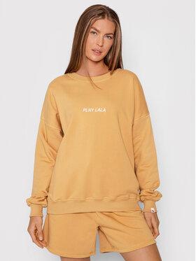 PLNY LALA PLNY LALA Sweatshirt Flora PL-BL-FO-00020 Braun Oversize