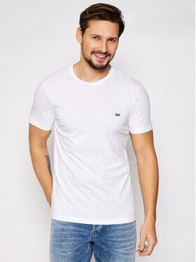 Lee Lee T-Shirt SS Patch Logo Tee L60UFQ12 Biały Regular Fit