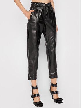 Marella Marella Панталони от имитация на кожа Niagara 37860517 Черен Regular Fit