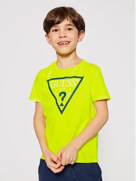 Guess Guess T-shirt Unisex H1GJ28 K5M20 Jaune Regular Fit
