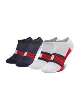 Tommy Hilfiger Tommy Hilfiger Set di 2 paia di calzini corti da bambini 100002327 Blu scuro