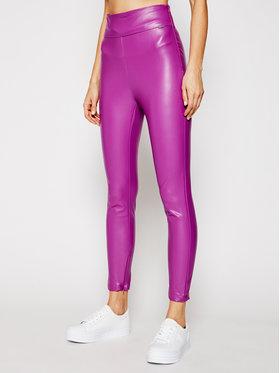 Guess Guess Kalhoty z imitace kůže Priscilla W1RB25 WBG60 Fialová Slim Fit