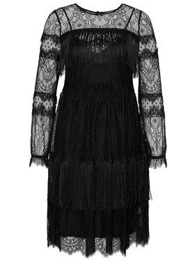 TwinSet TwinSet Koktejlové šaty 202TP2374 Černá Reguler Fit