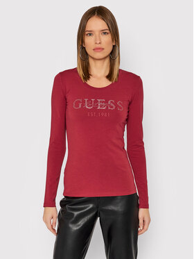 Guess Guess Блуза Izaga Tee W1BI03 J1311 Розов Slim Fit