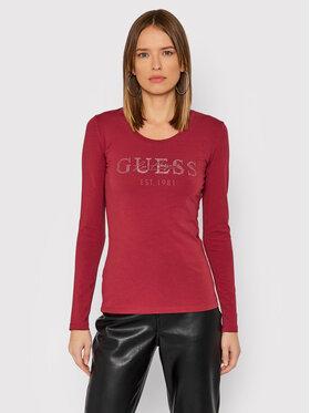 Guess Guess Bluzka Izaga Tee W1BI03 J1311 Różowy Slim Fit