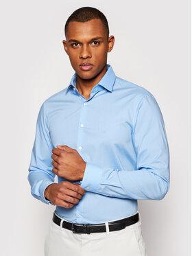 Calvin Klein Calvin Klein Hemd Poplin Stretch K10K106040 Blau Slim Fit