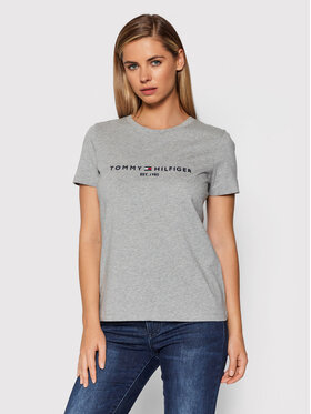 Tommy Hilfiger Tommy Hilfiger T-Shirt Heritage WW0WW31999 Šedá Regular Fit