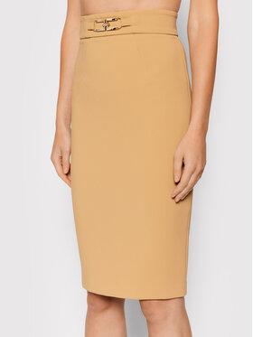 Elisabetta Franchi Elisabetta Franchi Puzdrová sukňa GO-486-16E2-V240 Hnedá Slim Fit