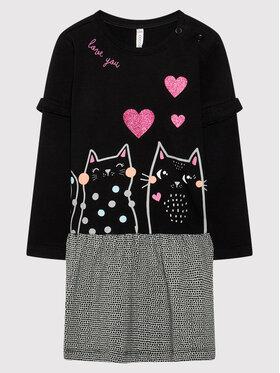 Coccodrillo Coccodrillo Ежедневна рокля ZC1129103MEO Черен Regular Fit