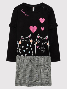 Coccodrillo Coccodrillo Φόρεμα καθημερινό ZC1129103MEO Μαύρο Regular Fit