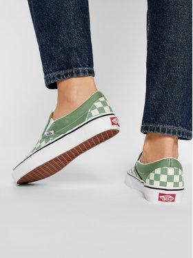 Vans Vans Sneakers aus Stoff Classic Slip-On VN0A33TB43B1 Grün