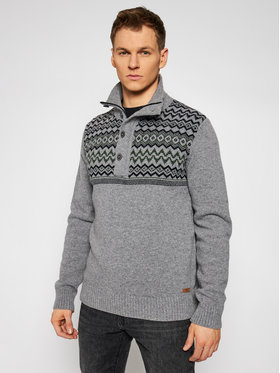 CMP CMP Sweter 7H77042 Szary Regular Fit