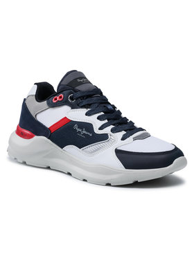 Pepe Jeans Pepe Jeans Sneakersy Brooks Multi PMS30667 Bílá