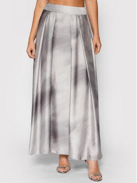 Peserico Peserico Trapecijos formos sijonas P05410 Pilka Regular Fit