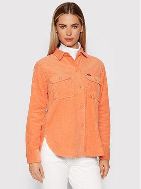 Lee Lee Košile Overshirt L54IQU42 Oranžová Relaxed Fit