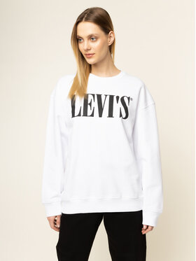 Levi's® Levi's® Mikina Graphic Diana Crew 85788-0000 Bílá Relaxed Fit