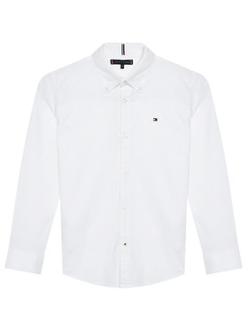 Tommy Hilfiger Tommy Hilfiger Πουκάμισο Oxford KB0KB06964 M Λευκό Regular Fit