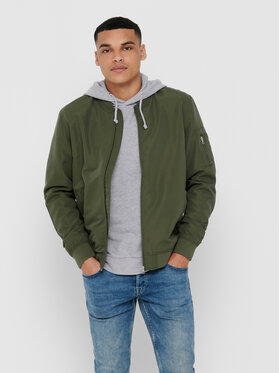 ONLY & SONS ONLY & SONS Geacă bomber Jack 22015866 Verde Regular Fit