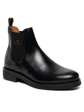 Gant Gant Členková obuv s elastickým prvkom Brookly 23651179 Čierna