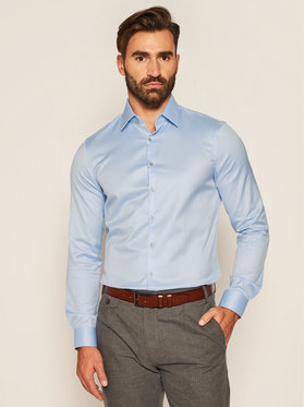Calvin Klein Calvin Klein Košeľa Till Easy Iron K10K103027 Modrá Slim Fit