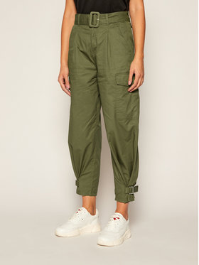 Tommy Jeans Tommy Jeans Pantalon en tissu DW0DW08321 Vert Regular Fit