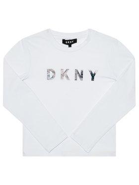 DKNY DKNY Blúz D35Q78 D Fehér Regular Fit