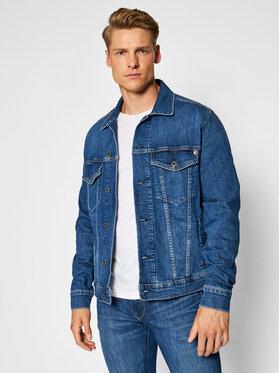 Pepe Jeans Pepe Jeans Džinsinė striukė Pinner PM400908HI4 Tamsiai mėlyna Regular Fit