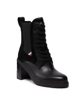 Tommy Hilfiger Tommy Hilfiger Členková obuv Th Outdoor Heel Lace Up Boot FW0FW05942 Čierna