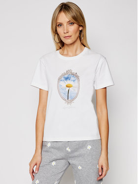 Local Heroes Local Heroes T-shirt Daisy SS21T0027 Blanc Regular Fit