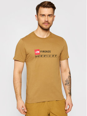 The North Face The North Face T-shirt Gps Tee Firenze NF0A35WDD9V1 Marron Regular Fit