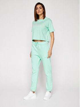 Sprandi Sprandi T-Shirt SS21-TSD004 Zielony Cropp Fit