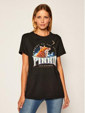Pinko Pinko T-Shirt LUCIA HEFFERNAN Giovedi Al 20-21 PHEFF 1N12TM Y6LC Schwarz Regular Fit