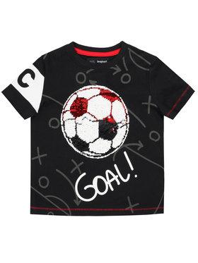 Desigual Desigual T-Shirt Manolo 20SBTK27 Černá Regular Fit