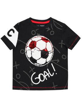 Desigual Desigual T-Shirt Manolo 20SBTK27 Czarny Regular Fit