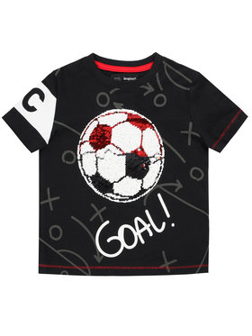 Desigual Desigual T-Shirt Manolo 20SBTK27 Schwarz Regular Fit